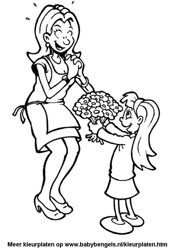 Kleurplaten Bosje Bloemen.Kleurplaten Voor Peuters En Kleuters En Kinderen Online Uitprinten
