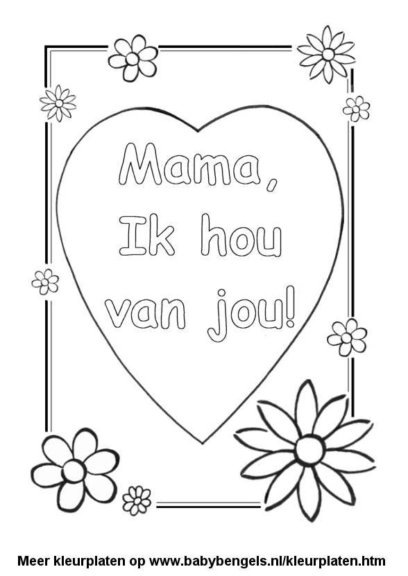 Kleurplaten Moederdag Oma.Kleurplaten Voor Peuters En Kleuters En Kinderen Online