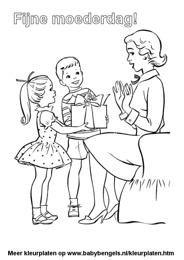 Kleurplaten Moederdag Peuters.Kleurplaten Voor Peuters En Kleuters En Kinderen Online Uitprinten
