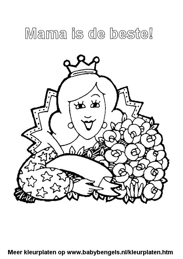 Kleurplaten Over Moederdag.Kleurplaten Voor Peuters En Kleuters En Kinderen Online Uitprinten