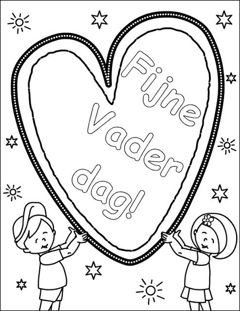 Kleurplaten Voor Kinderen Kleuters En Peuters.Kleurplaten Vaderdag Voor Peuters Brekelmansadviesgroep